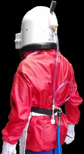 Condicionador de ar para capacete de jatista